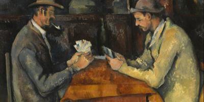 Paul Cézanne: Kortspillerne / The Card Players, cirka 1892-96. Courtauld Gallery.